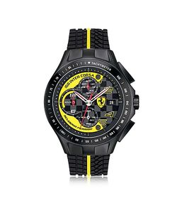 Ferrari | Race Day And Yellow Stainless Steel Case And Silicone Strap