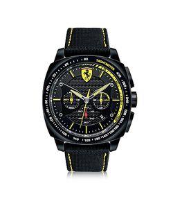 Ferrari | Aero Evo Chronograph And Yellow Stainless Steel Case And Nylon