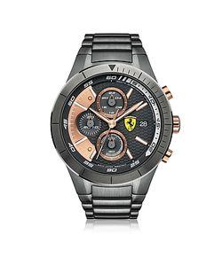Ferrari | Redrev Evo Gun Metal Stainless Steel Mens Chrono Watch