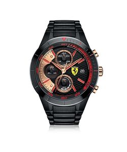 Ferrari | Red Rev Evo Stainless Steel Mens Chrono Watch