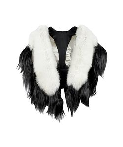 Fearfur | Bad Black Kite White And Black Fur Stole