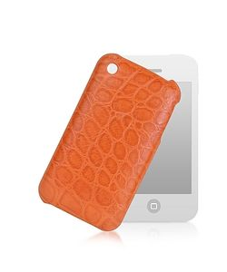 Giorgio Fedon 1919 | Croco-Stamped Leather Iphone 3 Case