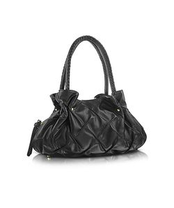 Fontanelli | Pleated Nappa Leather Satchel Bag