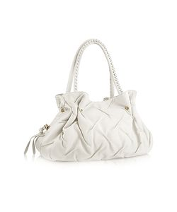 Fontanelli | Pleated Nappa Leather Satchel Bag