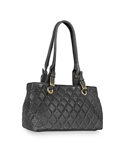 Fontanelli | Quilted Leather Satchel Bag