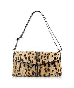 Fontanelli | Calfhair Leopard Print Shoulder Bag