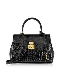 Fontanelli | Shiny Croco-Style Leather Handbag