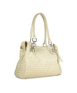 Fontanelli | Woven Italian Suede Leather Satchel Bag
