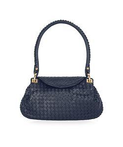 Fontanelli | Woven Italian Leather Flap Shoulder Bag