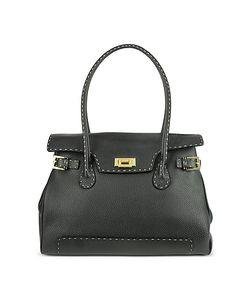 Fontanelli | Handstitched Pebble Leather Large Satchel Bag