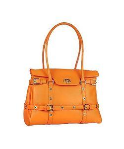 Fontanelli | Buckled Calf Leather Satchel Bag