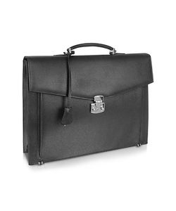 Fontanelli | Mens Grained Leather Briefcase