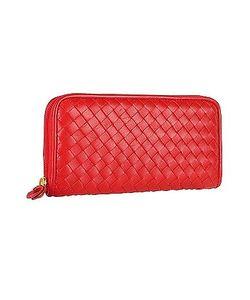 Fontanelli | Womens Italian Woven Leather Concertina Zip Wallet