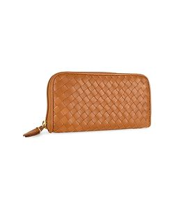 Fontanelli | Womens Italian Woven Leather Concertina Zip Wallet
