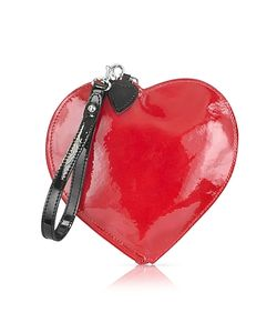 Fontanelli | Patent Leather Heart Coin Purse