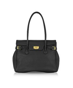Fontanelli | Embossed Leather Large Satchel Bag