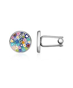 Forzieri | Millefiori Murano Glass Silver Plated Cuff Links