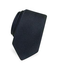 Forzieri   Solid Twill Silk Narrow Tie
