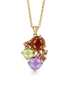 Mia & Beverly | Gemstones 18k Rose Gold Pendant Necklace