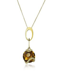 Incanto Royale | Citrine And Diamond 18k Charm Necklace