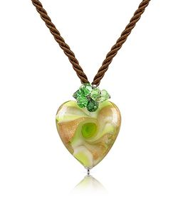House of Murano | Vortice Murano Glass Swirling Heart Necklace