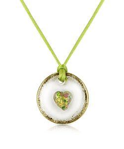House of Murano | Round Murano Glass Pendant W/ Lace