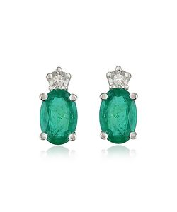 Incanto Royale | Emerald And Diamond 18k Gold Earrings