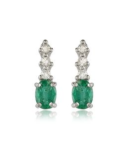 Incanto Royale | Emerald And Diamond 18k Gold Drop Earrings