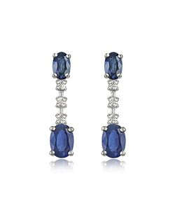 Incanto Royale | Sapphire And Diamond 18k Gold Drop Earrings