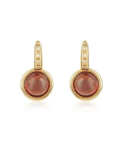 Mia & Beverly | Garnet And Diamond 18k Rose Earrings