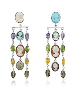 Mia & Beverly | Cameo Cascade Earrings