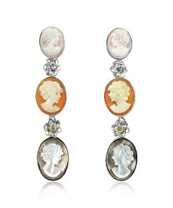 Mia & Beverly | Cameo Drop Earrings
