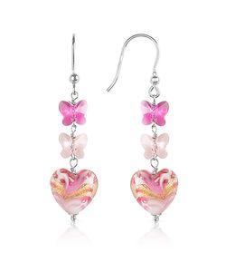 House of Murano | Mare Murano Glass Heart Drop Earrings