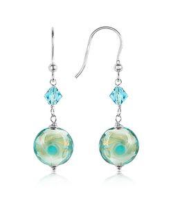 House of Murano | Vortice Swirling Murano Glass Bead Earrings