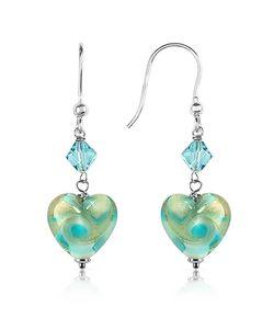 House of Murano | Vortice Swirling Murano Glass Heart Earrings