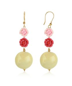 House of Murano | Rose Murano Glass Drop Earrings