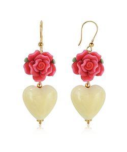 House of Murano | Heart Murano Glass Drop Earrings