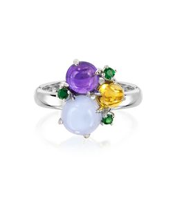 Mia & Beverly | Gemstones 18k White Gold Ring