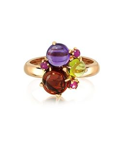 Mia & Beverly | Gemstones 18k Rose Gold Ring
