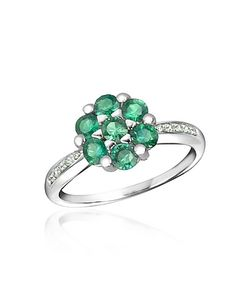 Incanto Royale | Emerald And Diamond 18k Gold Ring