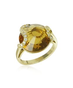 Incanto Royale | Citrine And Diamond 18k Gold Ring