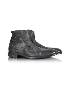 Forzieri | Smoke Grey Washed Leather Boots