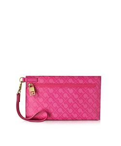 Gherardini   Gadget Softy Fabric And Leather Cosmetic Clutch
