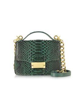 Ghibli | Emerald Python Leather Shoulder Bag
