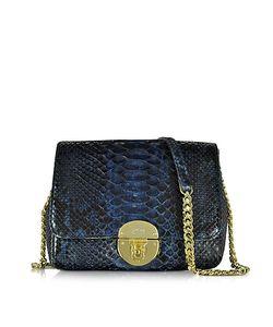 Ghibli | Midnight Blue Phyton Leather Shoulder Bag