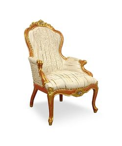 Ghibli | Embroided Reptile Leather Louis Philippe Armchair