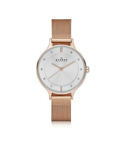 Skagen | Anita Rose Goldtone Stainless Steel Womens Watch W/Mesh Bracelet Band