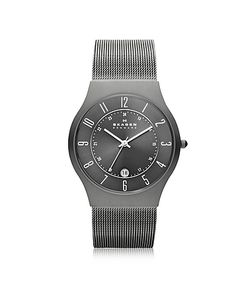 Skagen | Grenen Steel Mesh And Titanium Case Mens Watch