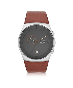 Skagen | Havene Chronograph Leather Mens Watch