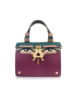GIANCARLO PETRIGLIA | Mini Peggy Eyes Leather Bag